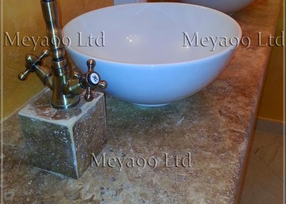Плот за баня от Травертин