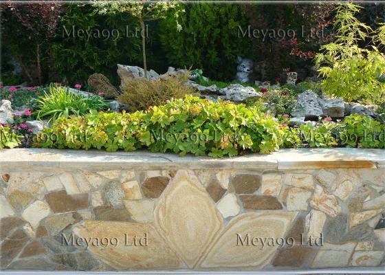 Облицовка от Гнайс за градина